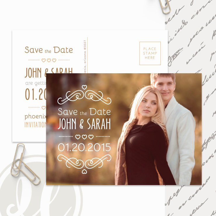 Save the Date Postcard Template Instant Download Printable
