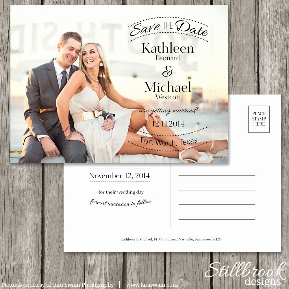 Save the Date Postcard Template Wedding Save the Date