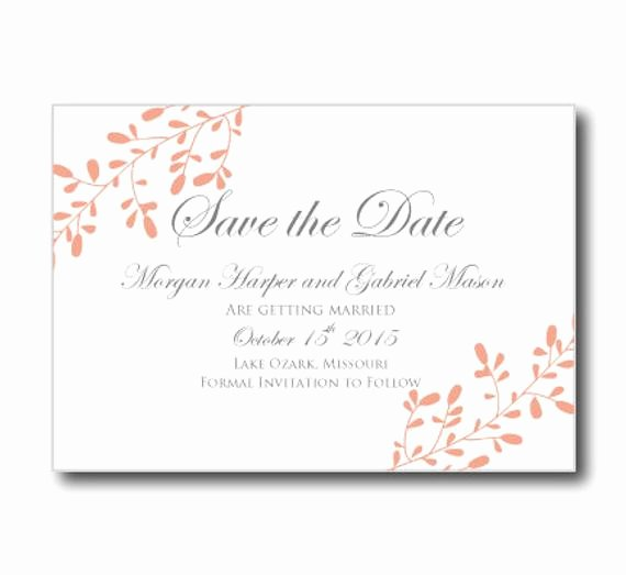Save the Date Printable Wedding Save Date by