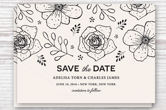 Save the Date Template Eps & Jpg Invitation Templates On