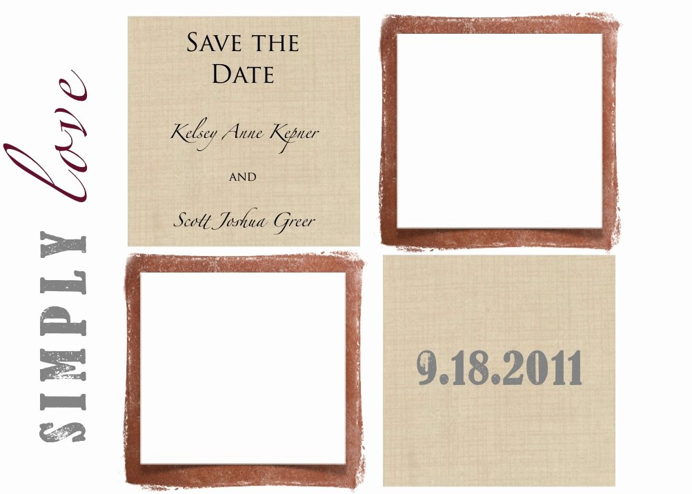 Save the Date Templates Wedding Save the Date Cards E