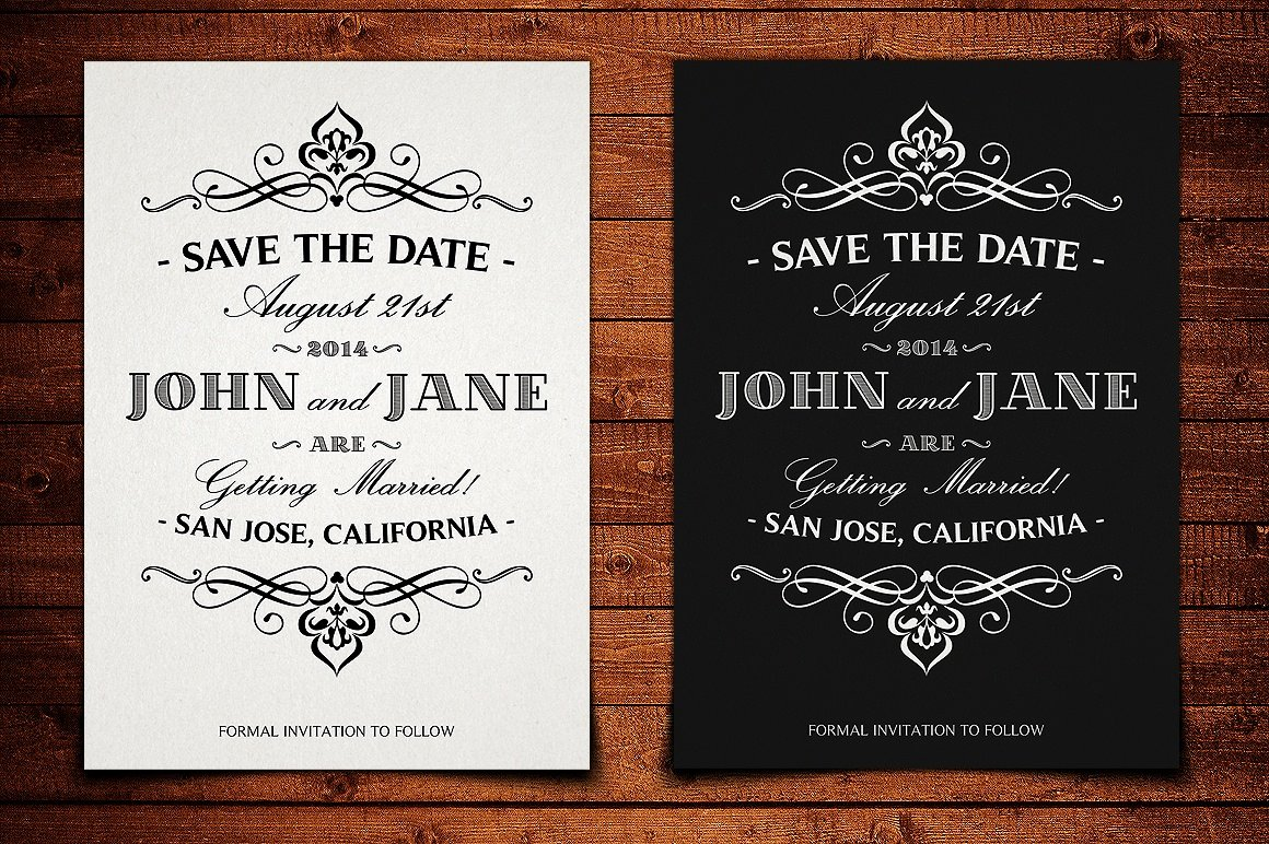 Save the Date Wedding Invitation Graphicdome