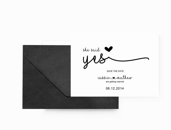 Save the Date Wedding Invitation Stationary Set Diy