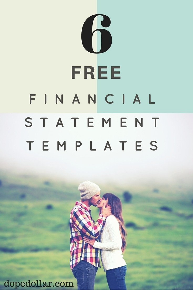 Sba Personal Financial Statement Excel Template Personal