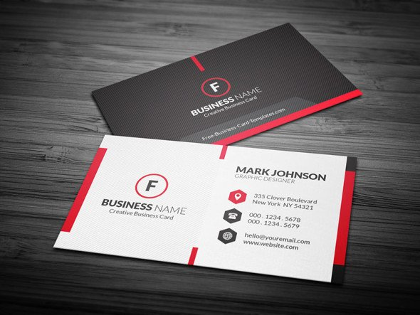 Scarlet Red Creative Business Card Template Free
