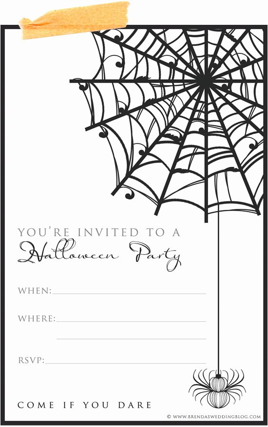 Scary Halloween Invitations Template