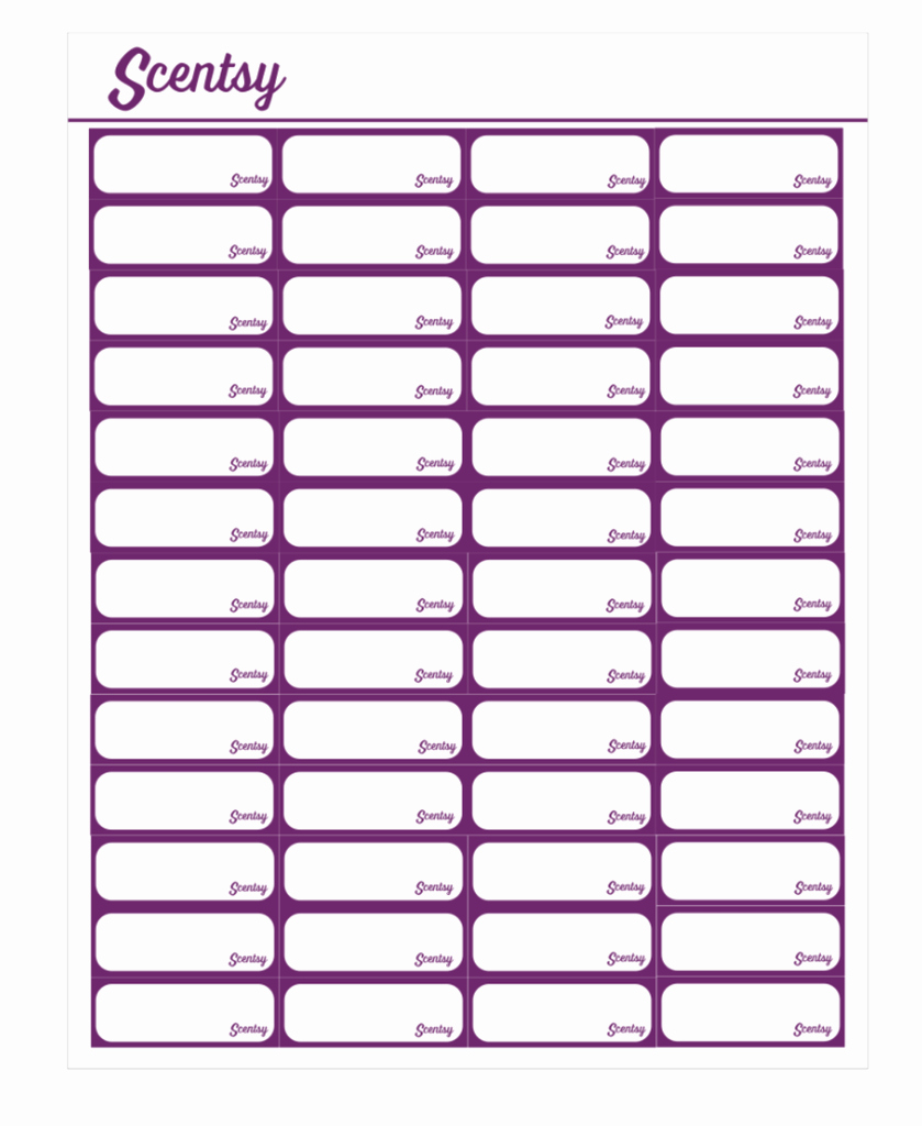 Scentsy Voltage Pyo Labels Template