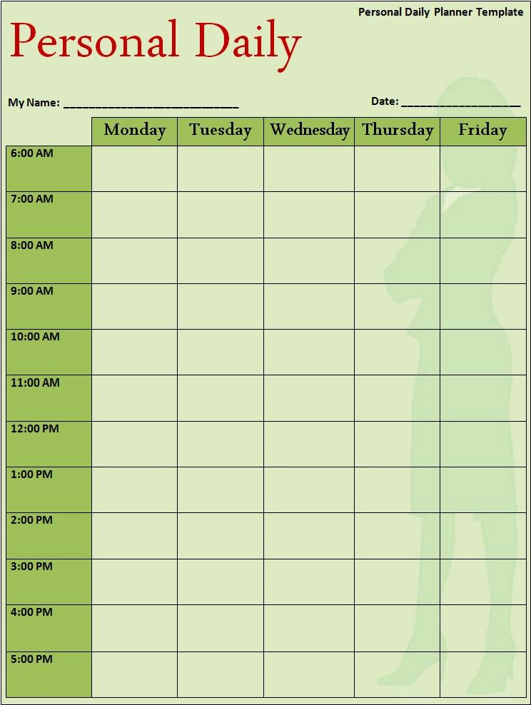 Schedule Planner Template Samples for Microsoft Word