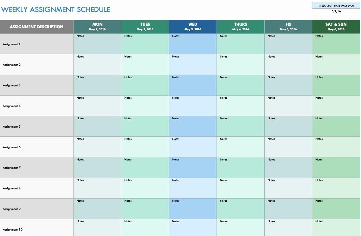 Schedule Spreadsheet Template Schedule Spreadsheet