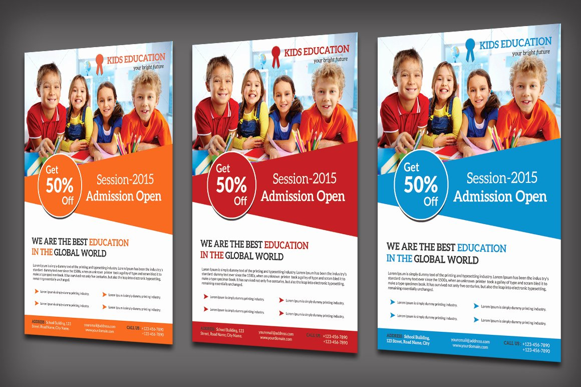 School Education Flyer Flyer Templates On Creative Market
