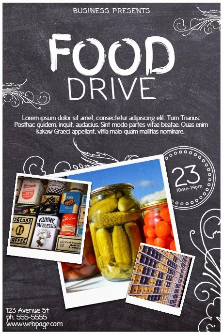 School Food Drive Flyer Sample Bing Images
