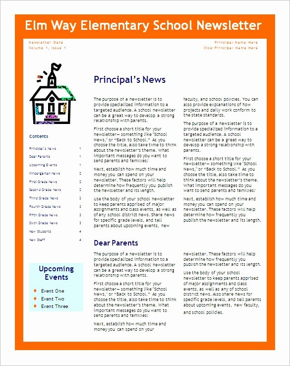 School Newsletter Templates