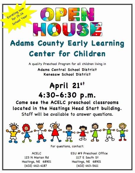 School Open House Flyer Template Kenesaw Public Schools