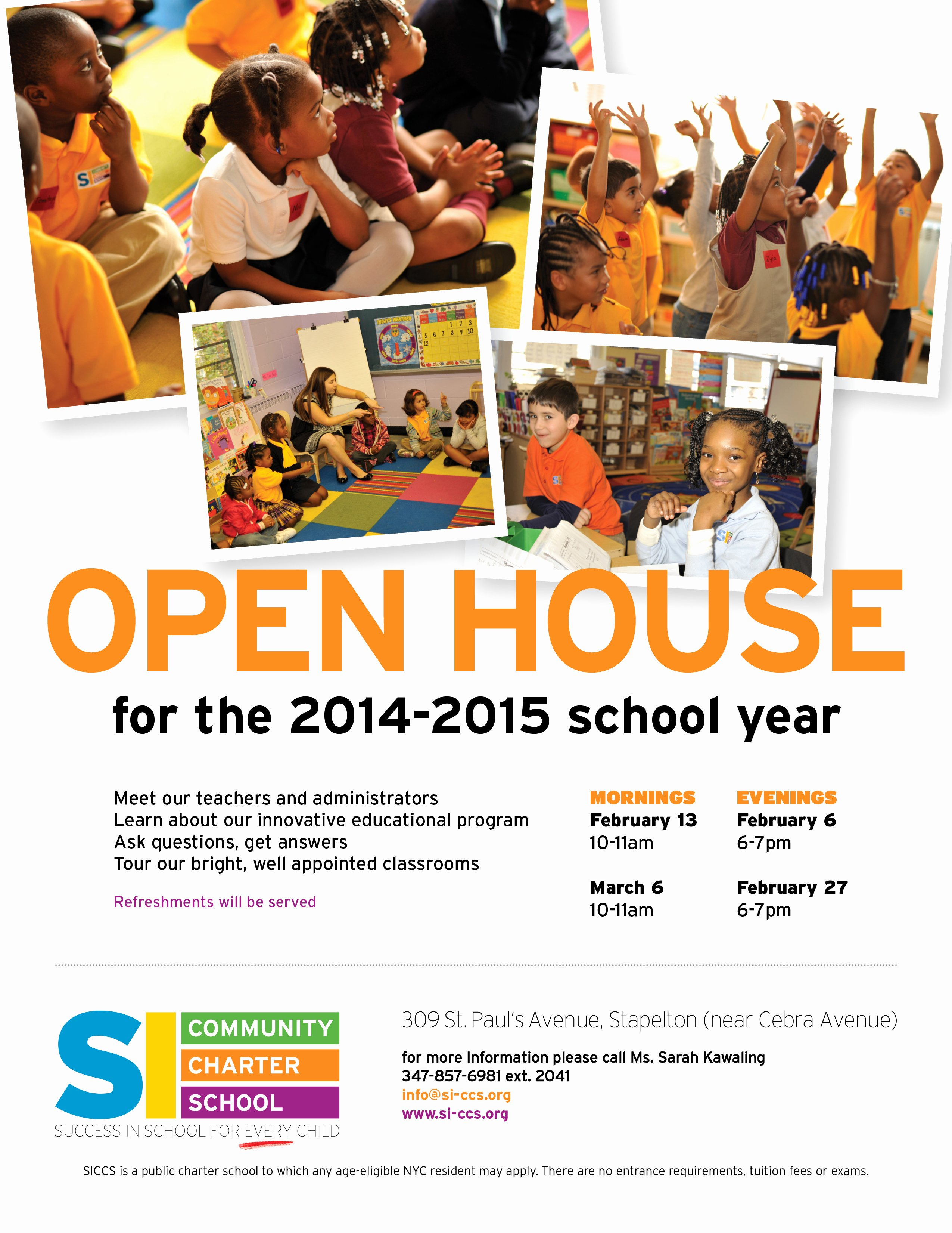 School Open House Flyer Template Portablegasgrillweber