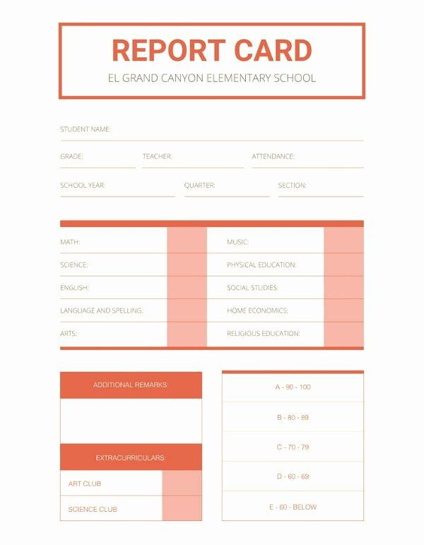 School Report Templates 18 Free Sample Example format