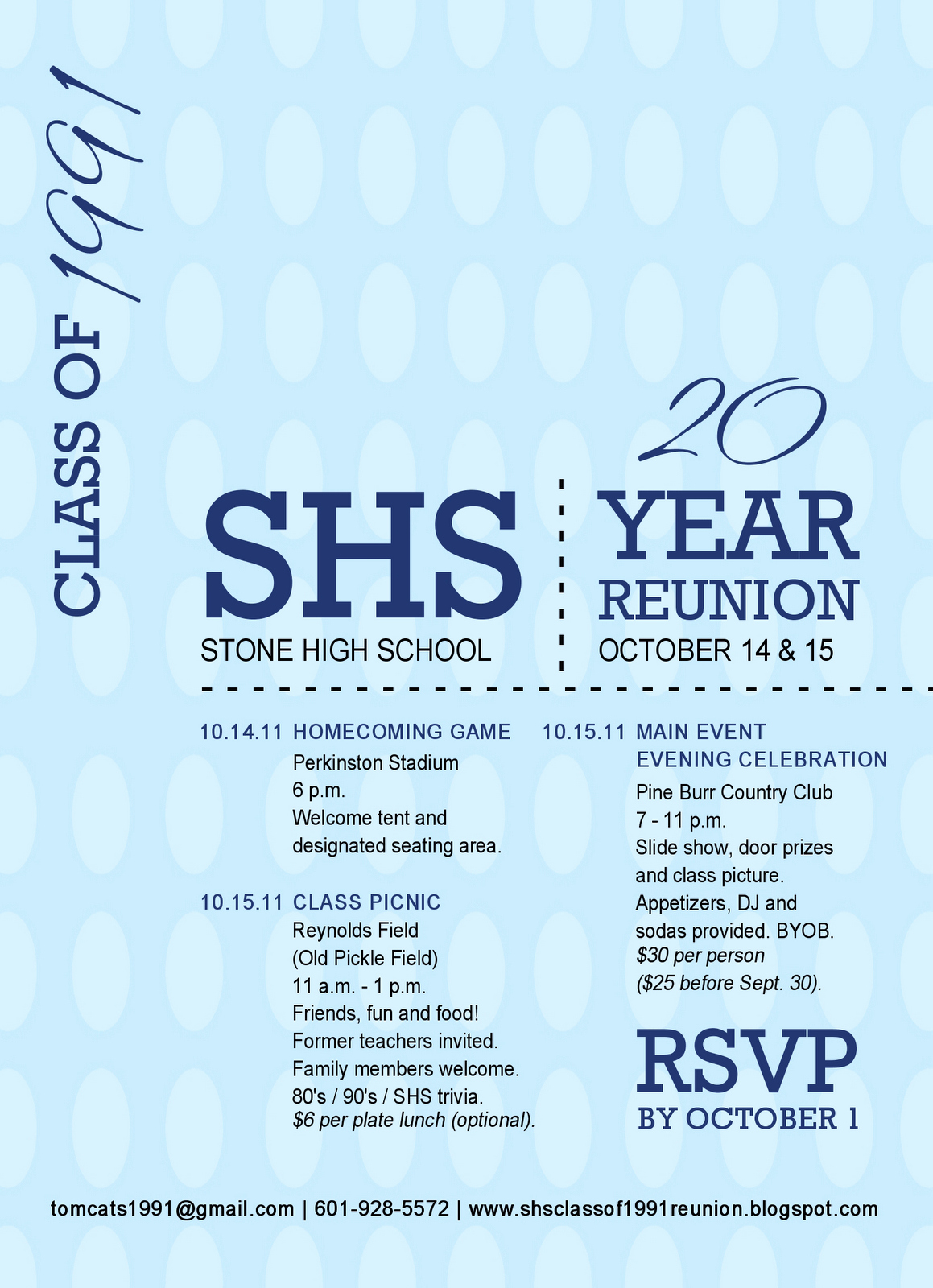 School Reunion Invitation Templates