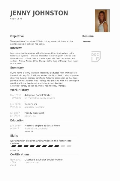 School social Worker Resume Best Resume Collection