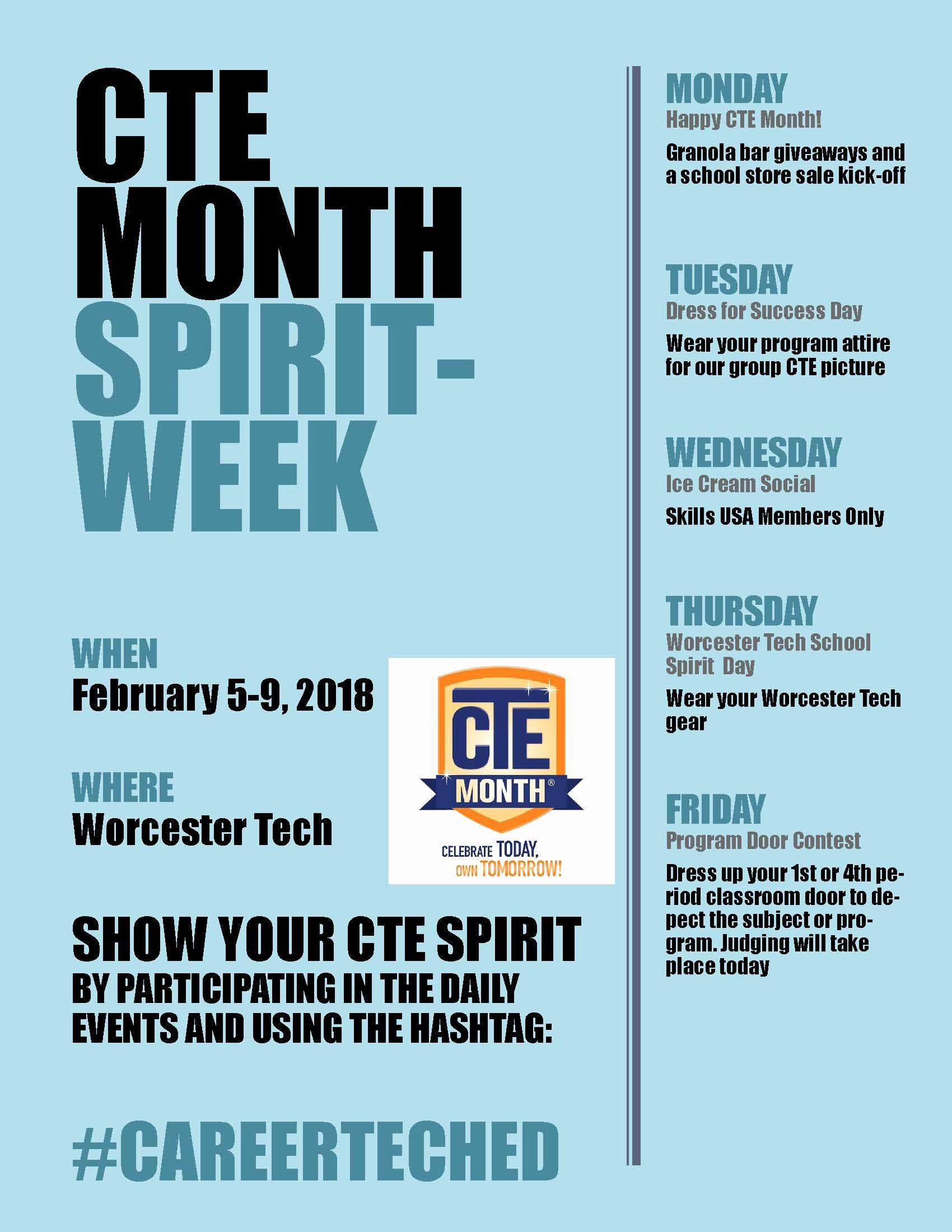 School Spirit Week Flyer Olalaopx
