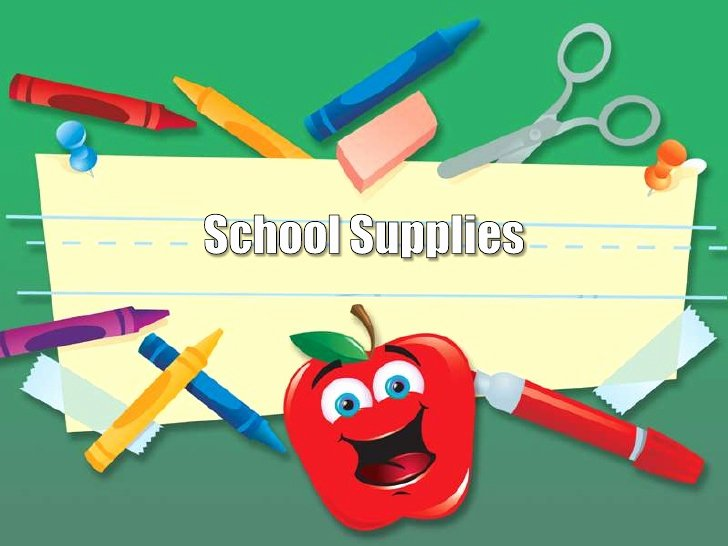 School Supplies Design Template