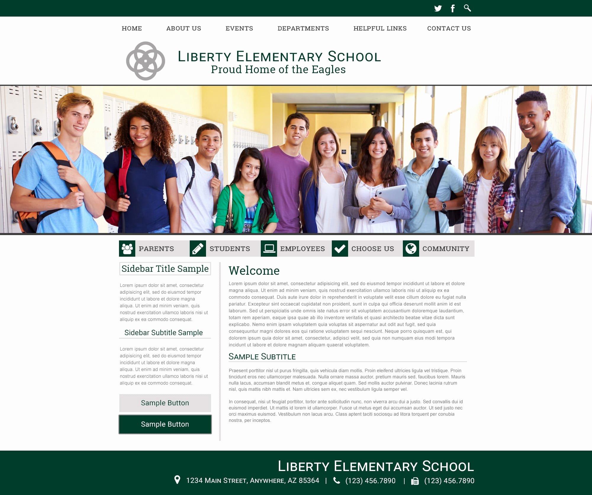 School Website Templates for Responsive School Sites