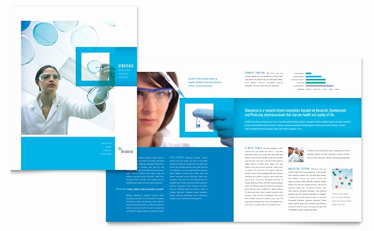 Science & Chemistry Brochure Template Word & Publisher