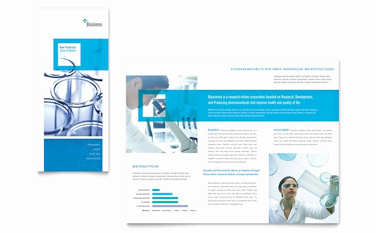 Science & Chemistry Tri Fold Brochure Template Word