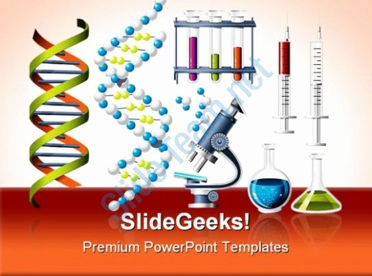 Science and Genetics Icons Medical Powerpoint Templates