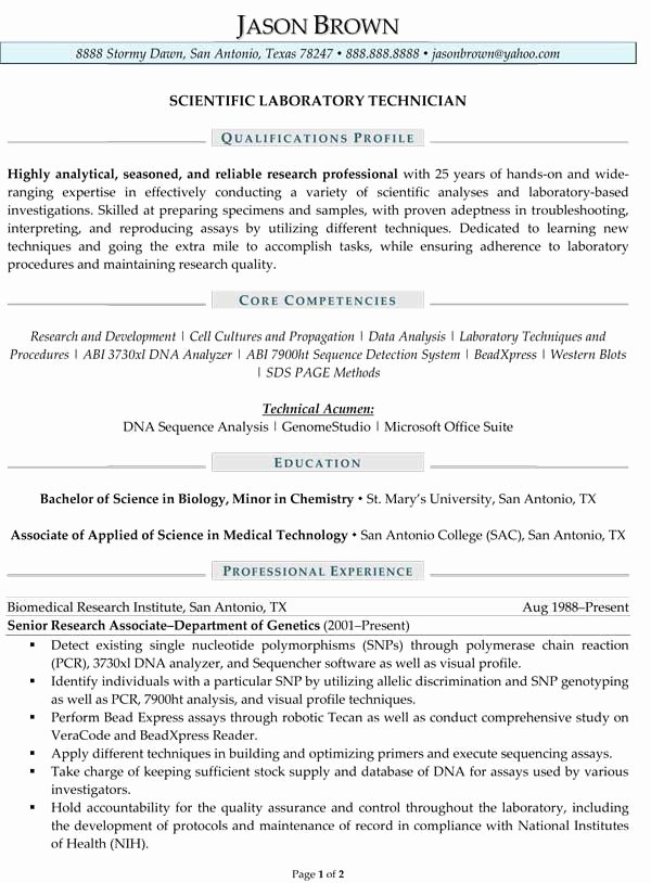 Scientist Resume Examples Cover Letter Samples Cover