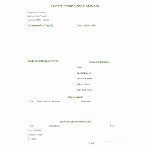 Scope Of Work Template 36 Free Word Pdf Documents