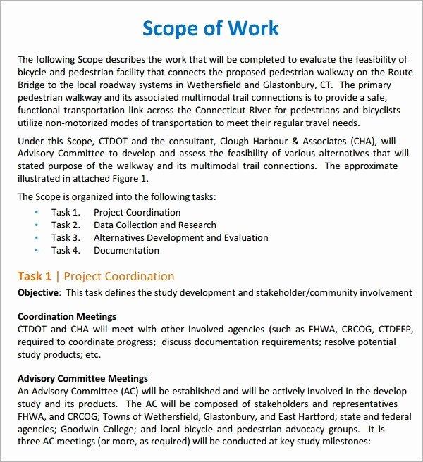 Scope Work Template