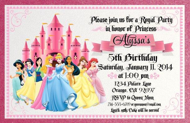 Scroll Disney Princess – Free Printable Birthday