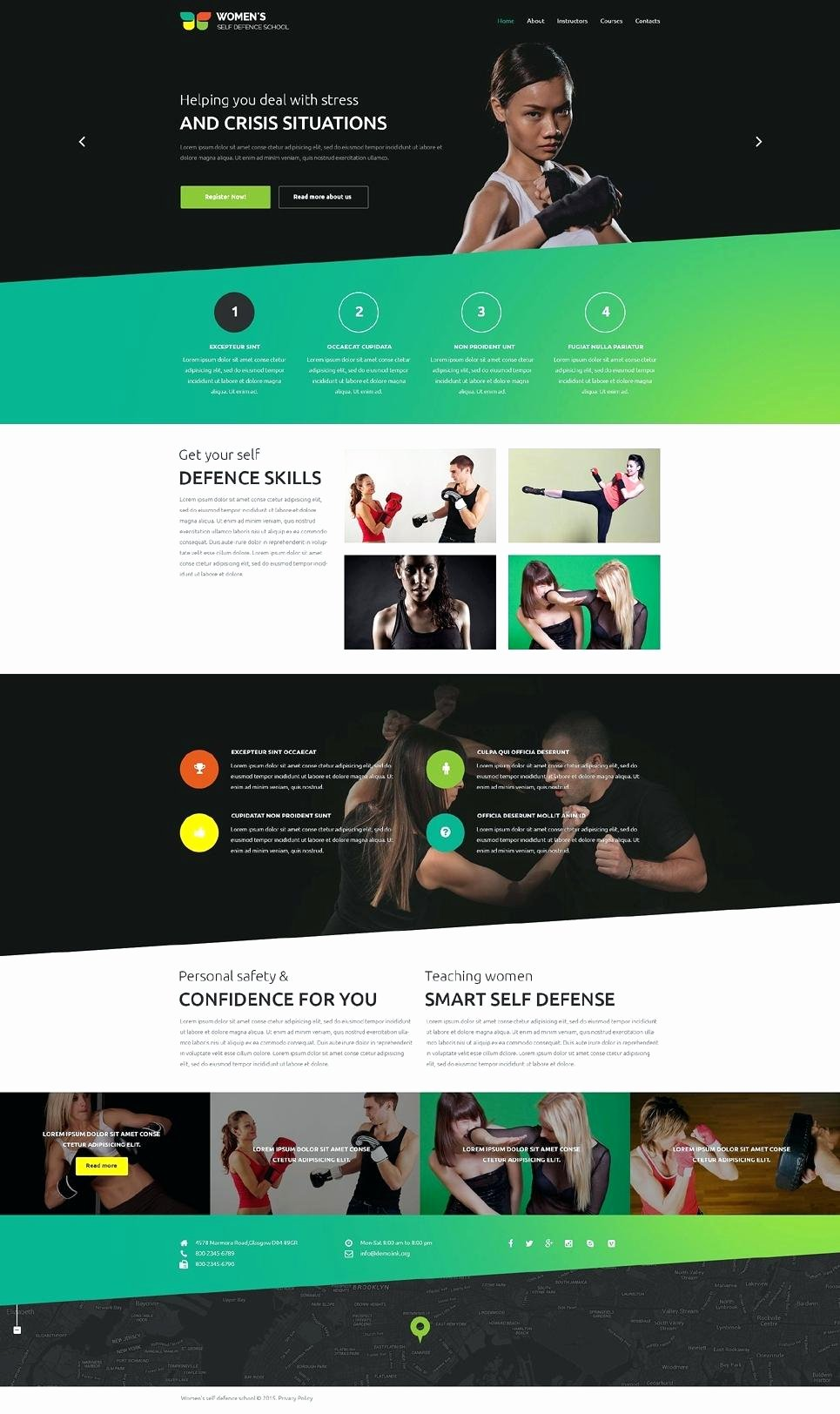 Scrolling Website Template Gallery Professional Report