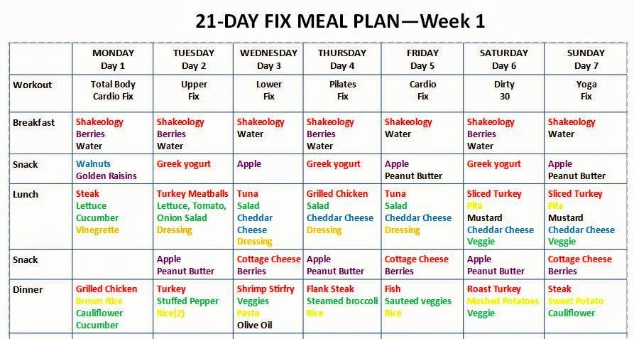 """Search Results for """"21 Day Fix Workout Schedule Template"""