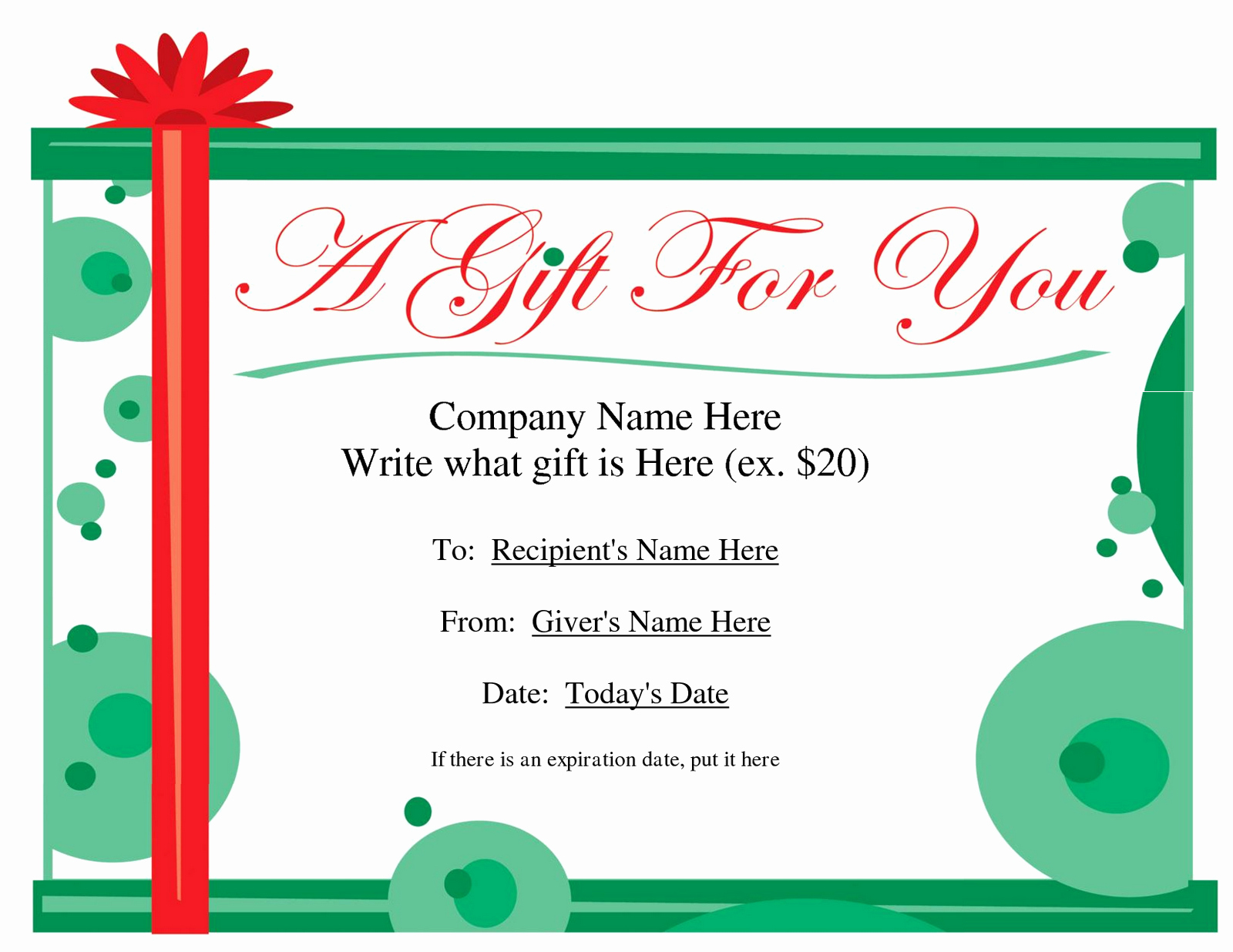 "Search Results for ""christmas Gift Certificate Template"