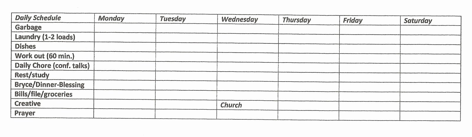 "Search Results for ""church Cleaning Checklist Spreadsheet"
