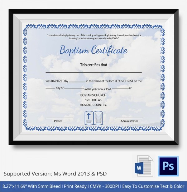 "Search Results for ""editable Baptism Certificate Template"