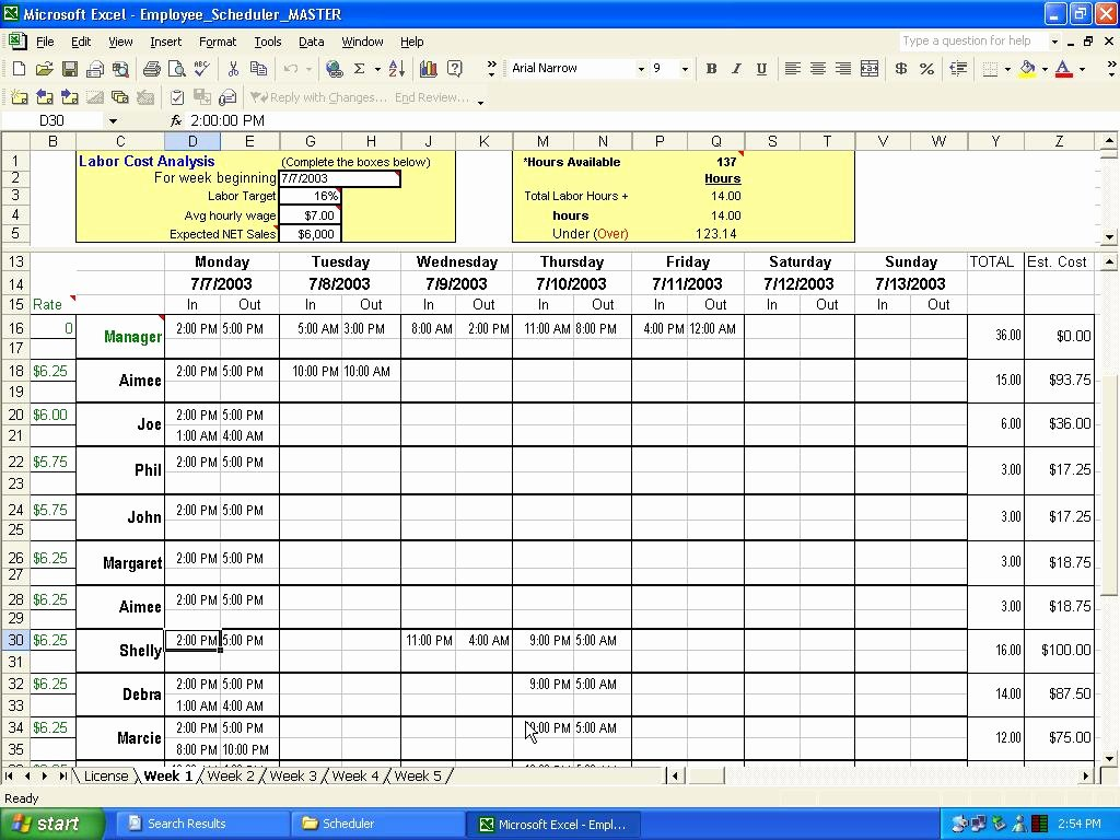 "Search Results for ""excel Employee Schedule Template"
