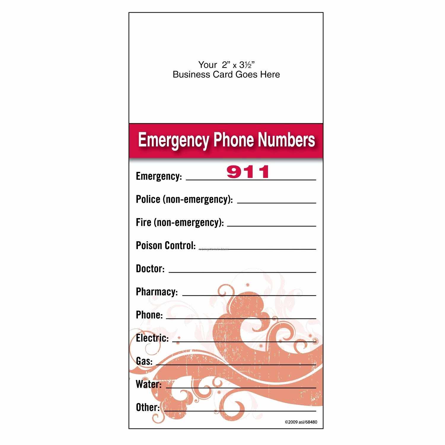 "Search Results for ""free Emergency Number Templates for"