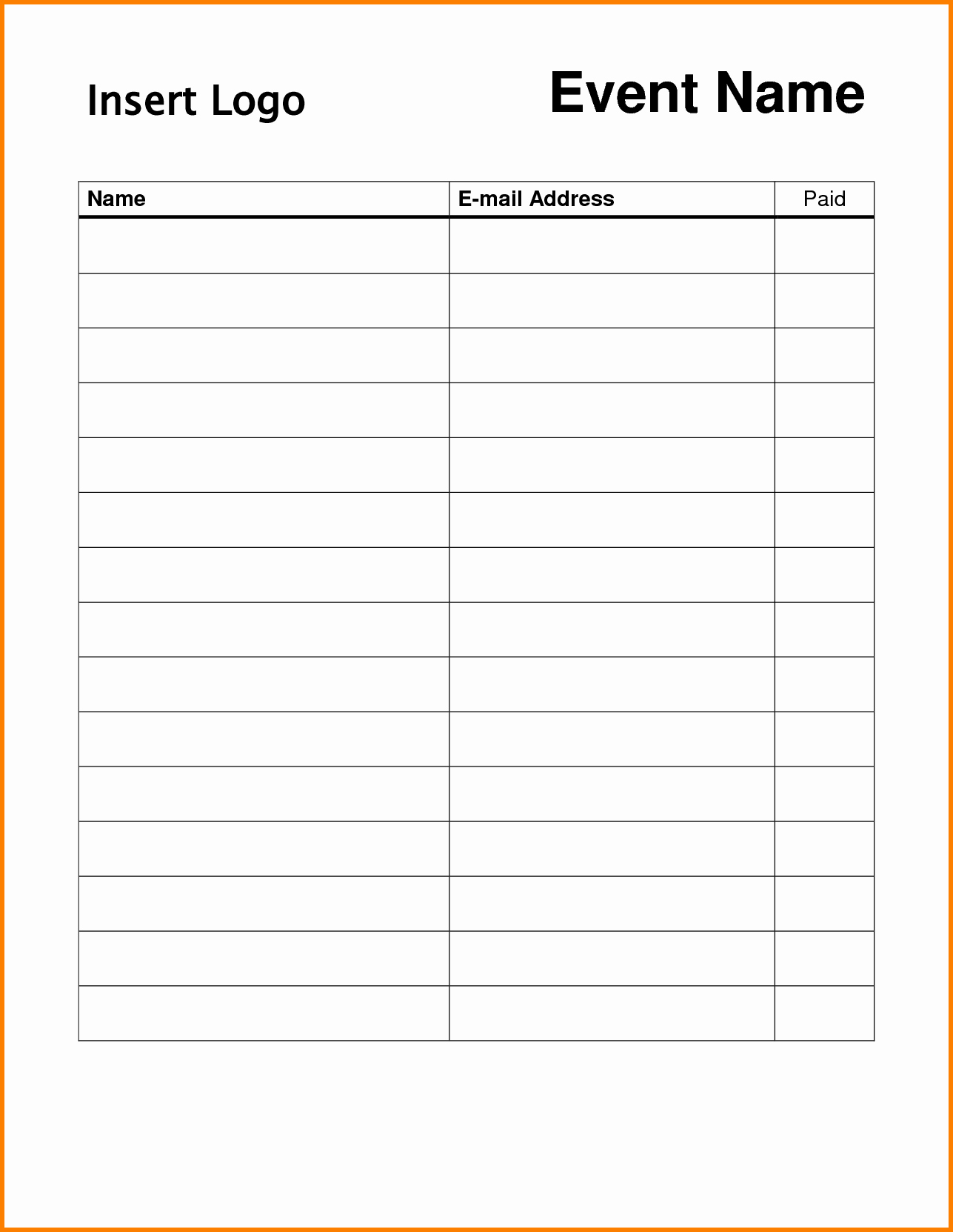 "Search Results for ""free Sign Up Sheet Template Printable"