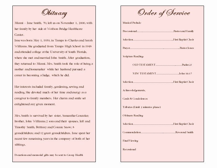"Search Results for ""funeral Obituary Template"" – Calendar 2015"