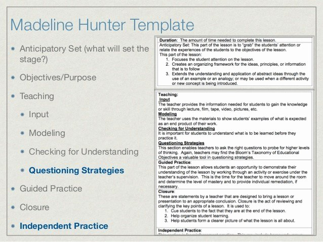 """Search Results for """"madeline Hunters Blank Lesson Template"""