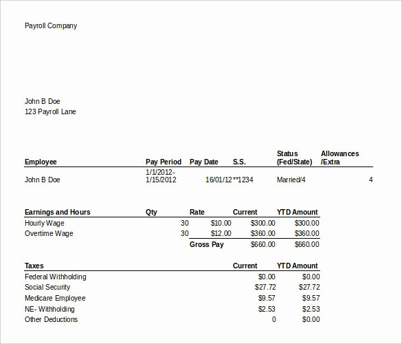 """Search Results for """"payroll Pay Stub Template"""" – Calendar 2015"""