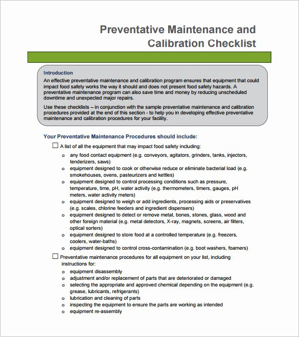 "Search Results for ""preventive Maintenance Checklist"