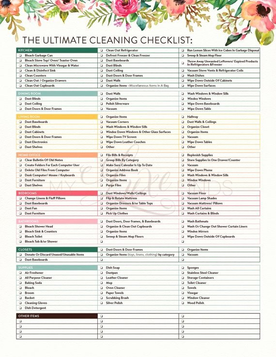 "Search Results for ""printable House Cleaning Checklist"
