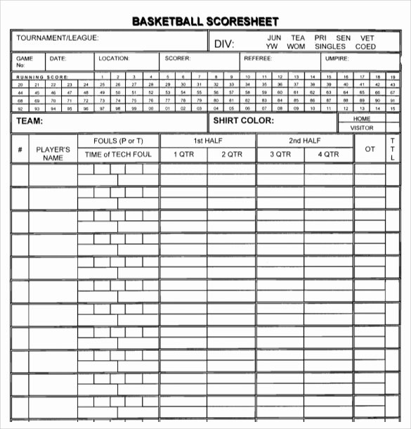"Search Results for ""sample Basketball Score Sheet"