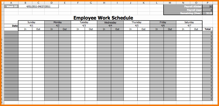 "Search Results for ""schedule Template Monthly Employee"