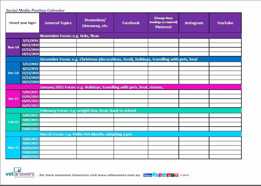 """Search Results for """"social Media Calendar Template Excel"""
