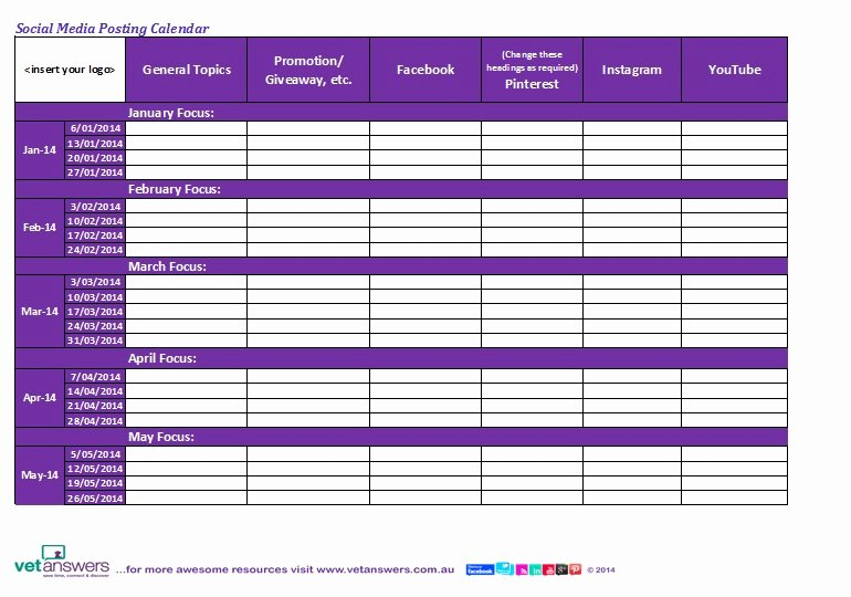 """Search Results for """"social Media Posting Calendar Template"""