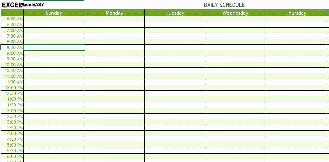 "Search Results for ""template for Daily Schedule"