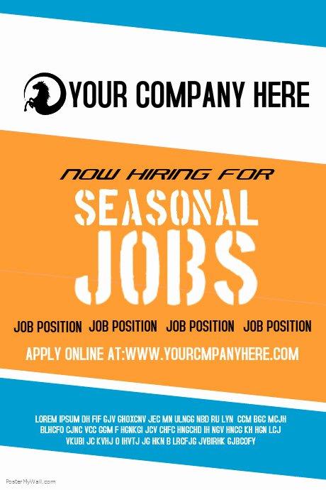 Seasonal Jobs Template